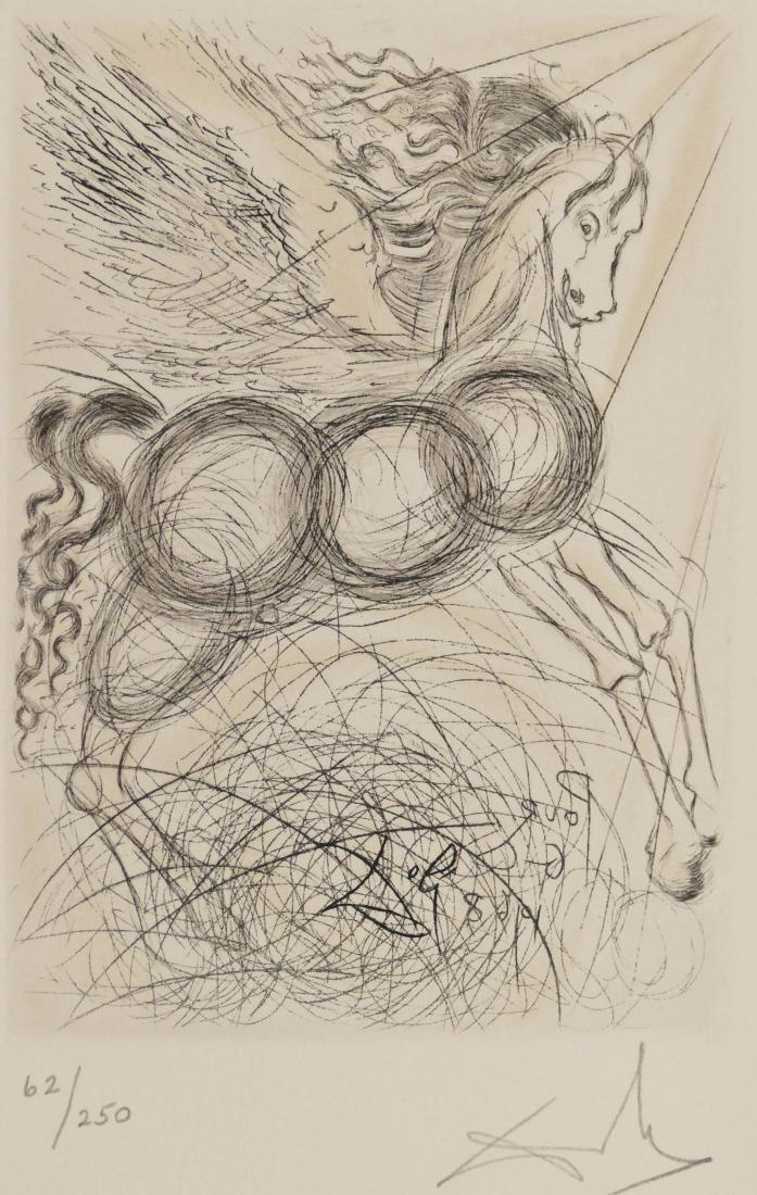 After Salvador Dali (1904-1989 Spanish) ''Pegase'' 1968
