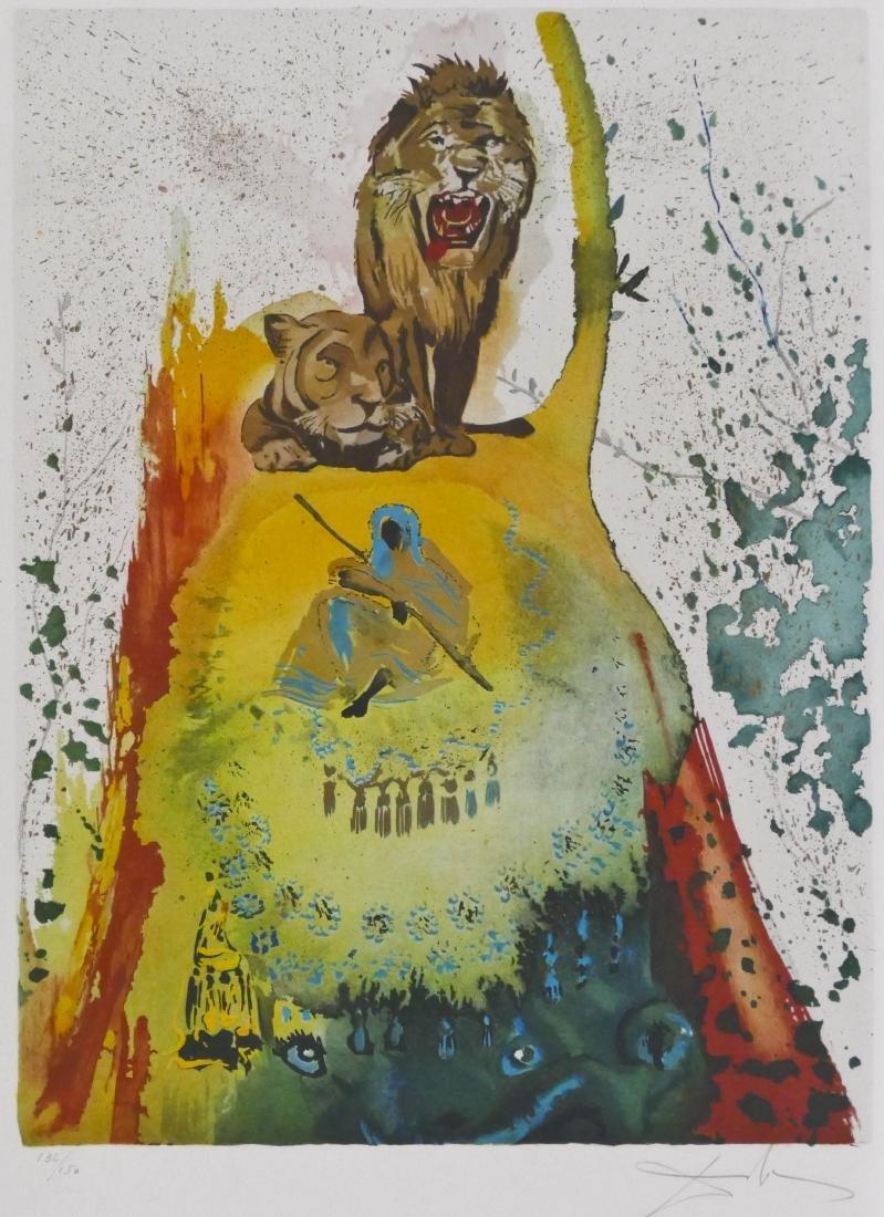 After Salvador Dali (1904-1989 Spanish) ''Les Lions''