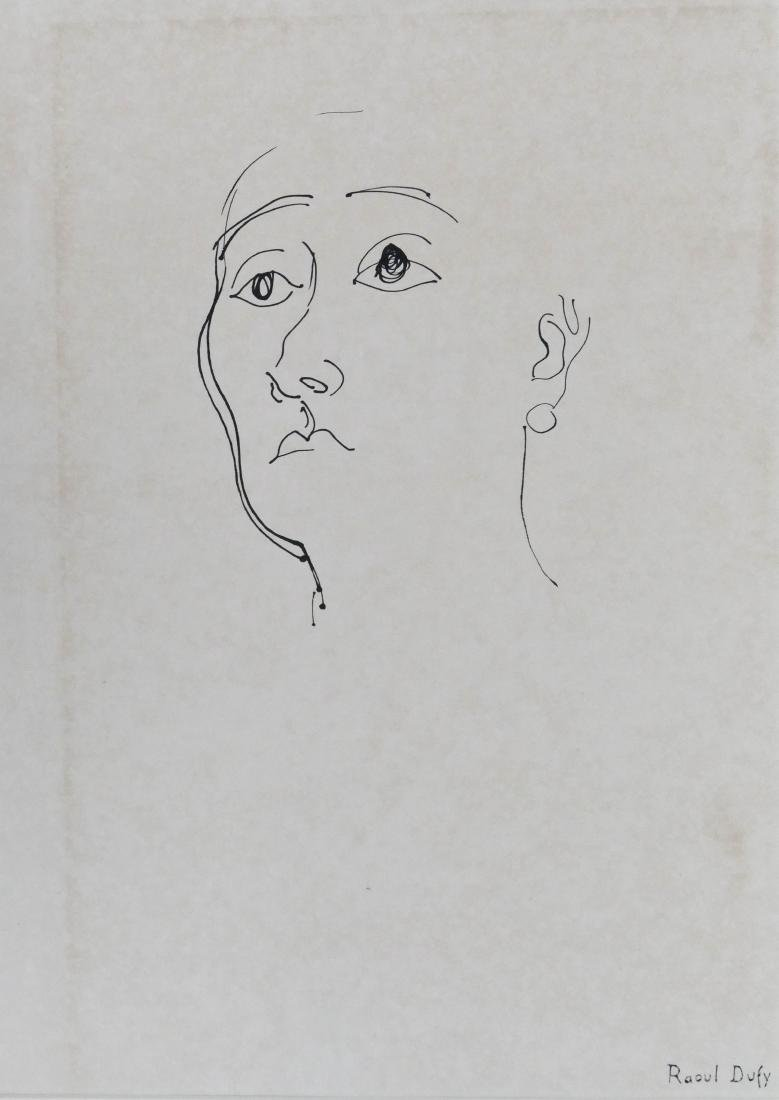 Raoul Dufy (1877-1953 French) Portrait Drawing Ink on