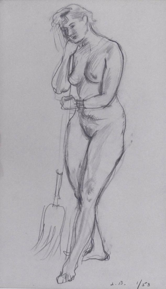 Leonard Baskin (1922-2000 American) Sweeping Figure