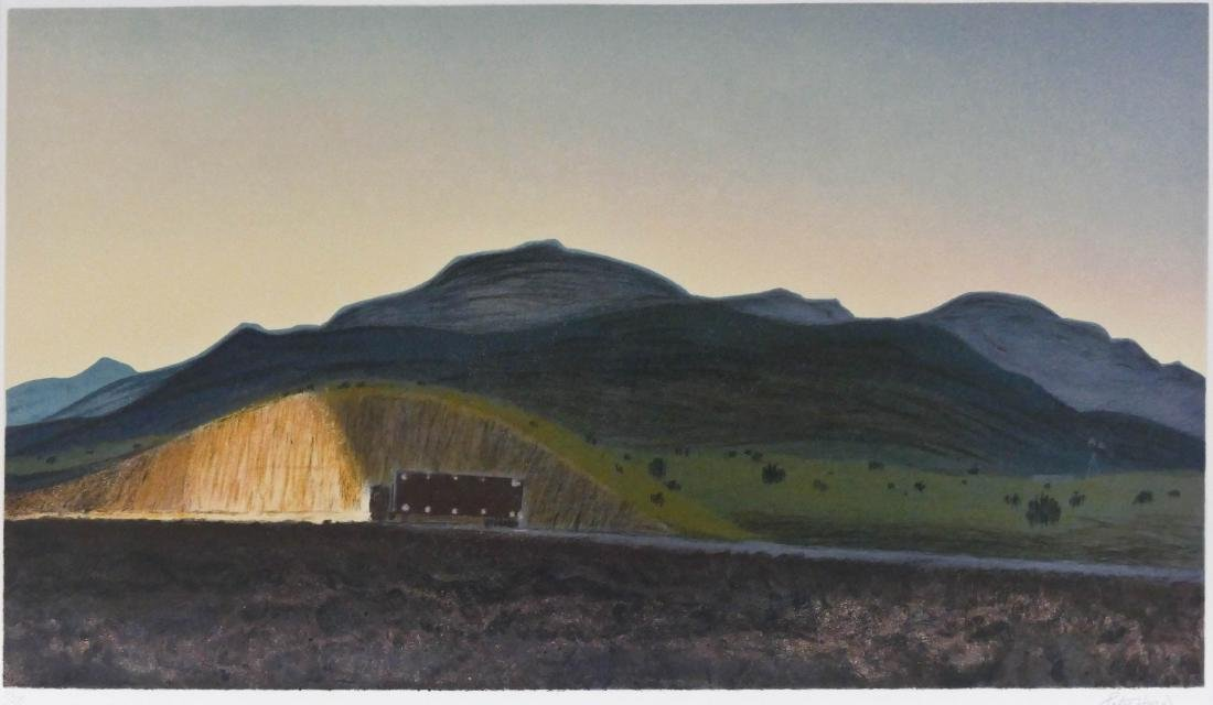Peter Hurd (1904-1984 American) ''Trucking'' Lithograph