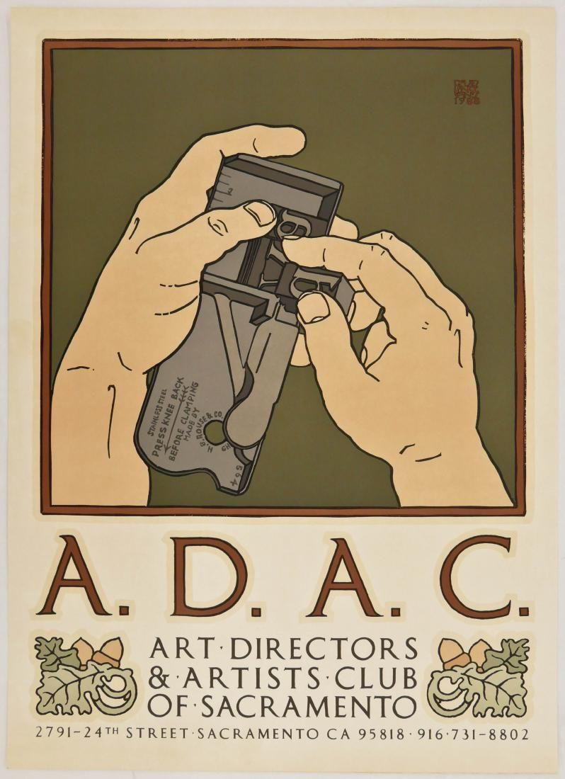 David Lance Goines (b.1945 California) ''A.D.A.C. Art