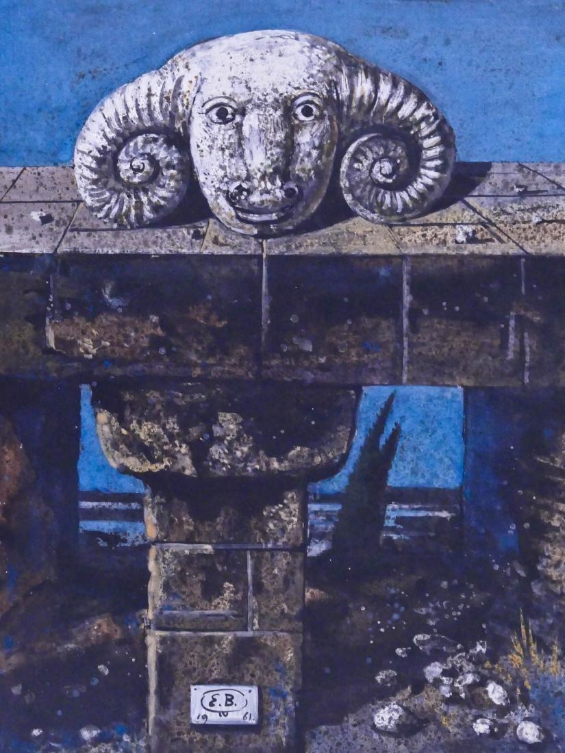 Eugene Berman (1899-1972 Italian) ''Testa di Ariete''