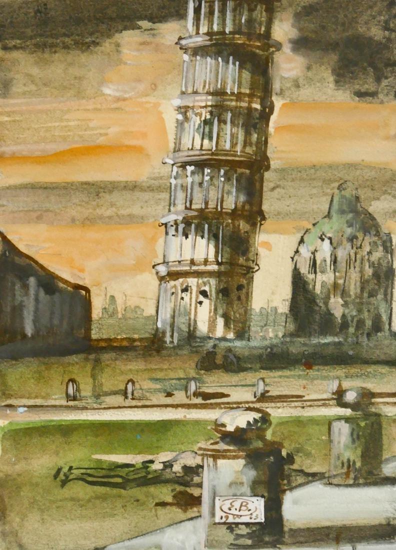 Eugene Berman (1899-1972 Italian) ''The Tower of Pisa''