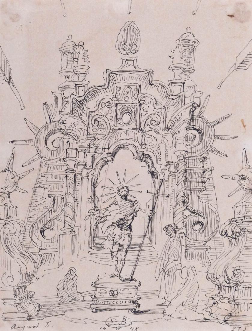 Eugene Berman (1899-1972 Italian) Untitled Surrealist