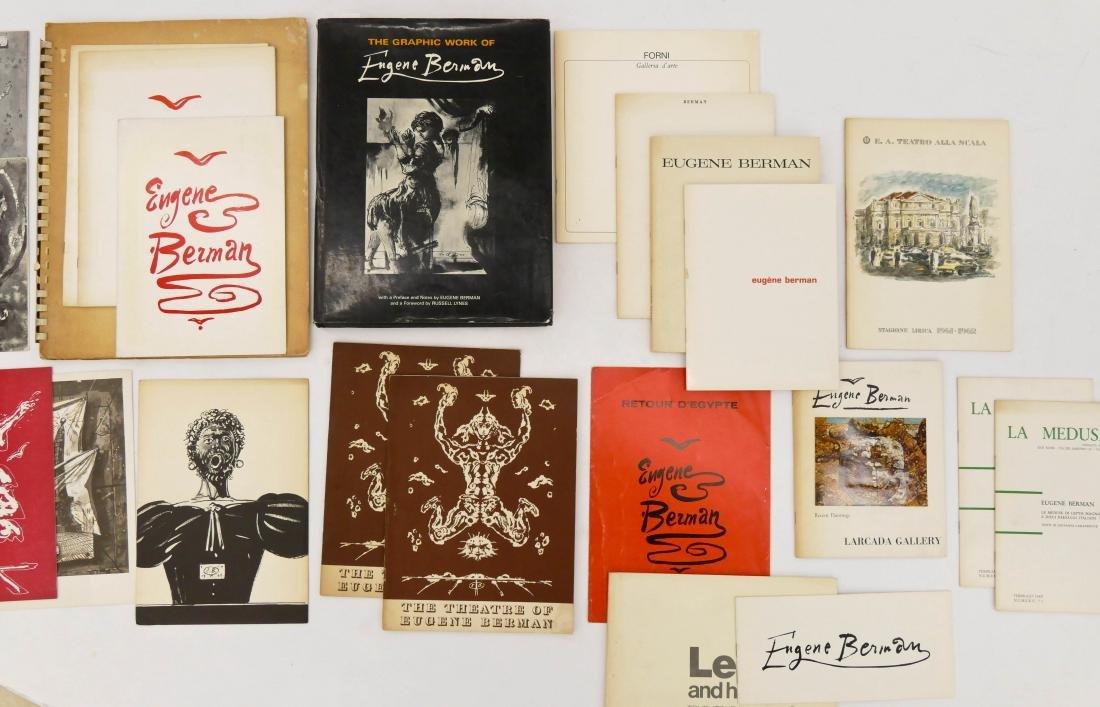 23pc Eugene Berman Art Exhibition Booklets & Pamphlets.