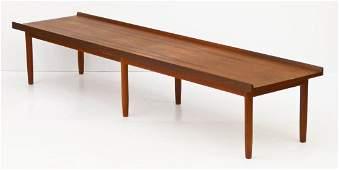 Danish Modern Teak Long Coffee Table