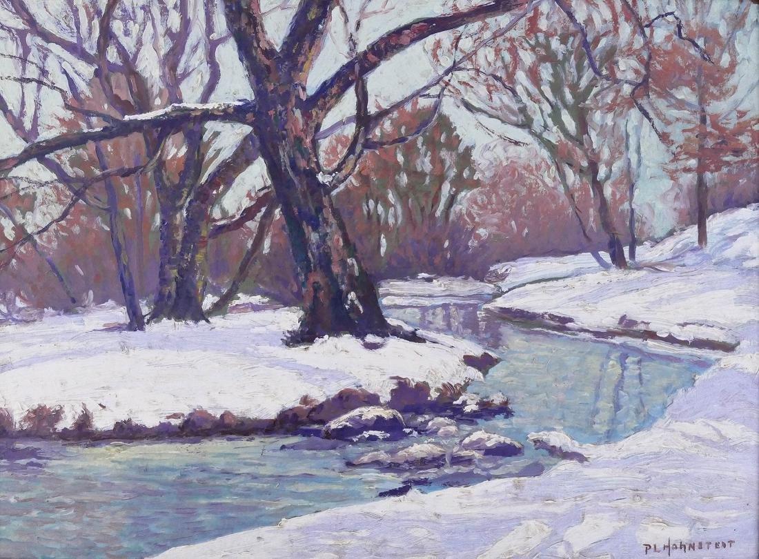 Peter Hohnstedt (1871-1957 American) Winter Landscape