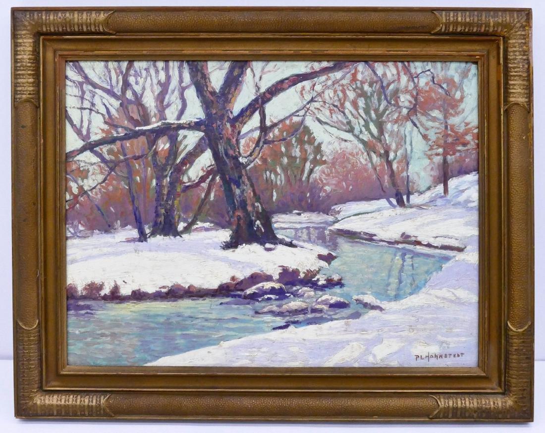 Peter Hohnstedt (1871-1957 American) Winter Landscape - 2
