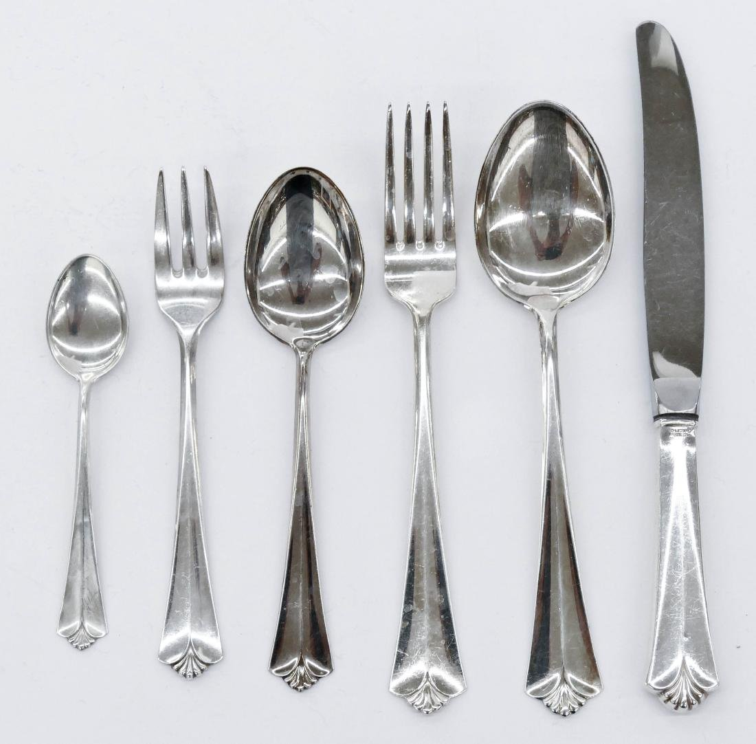 80pc David Andersen ''Town Hall'' Silver Flatware
