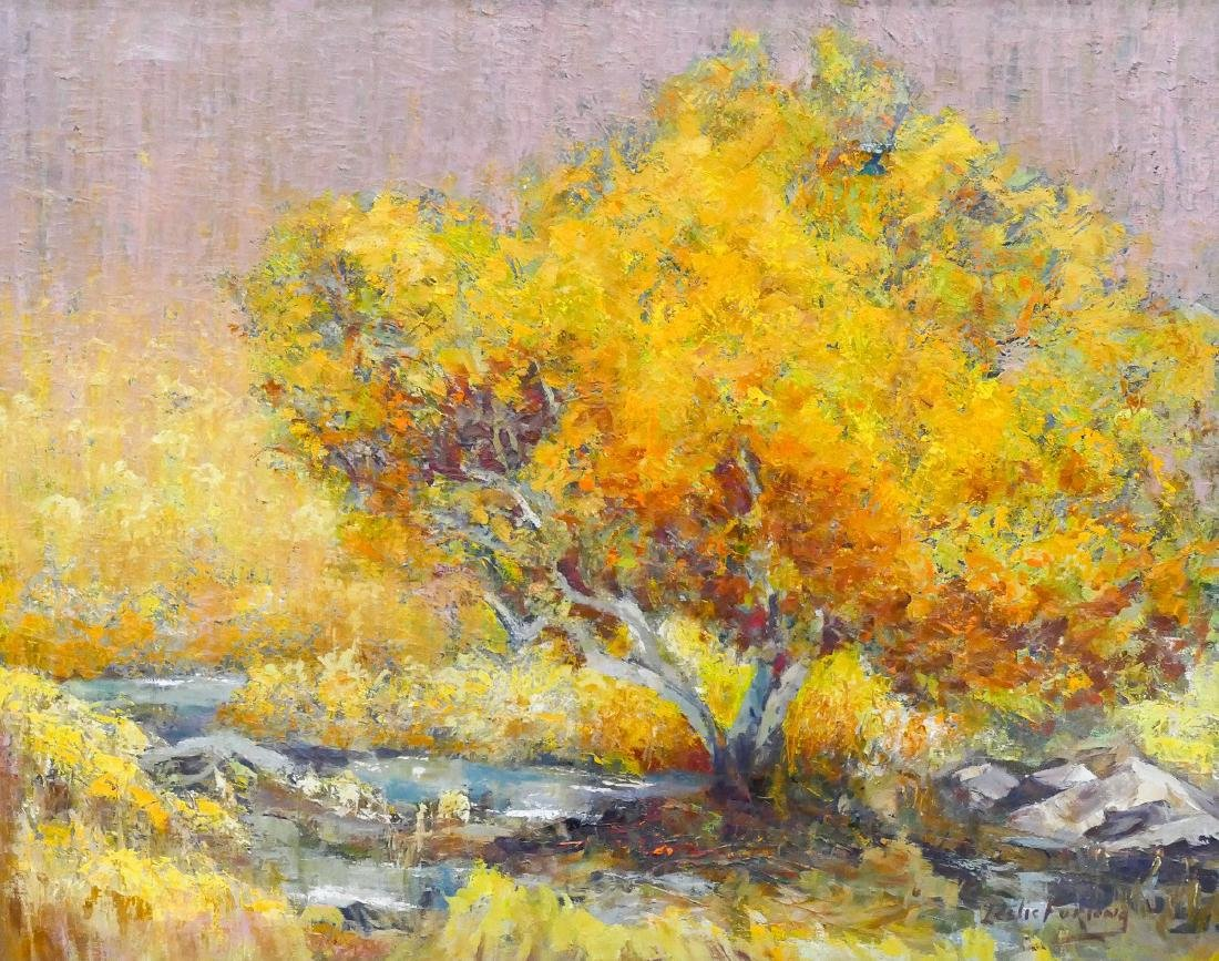 Leslie Furlong (1905-1989 California) Autumn Landscape