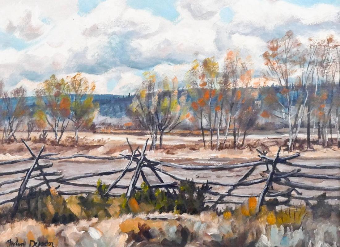 John Dyson (1910-1993 Canadian) ''Russel Fence Newton