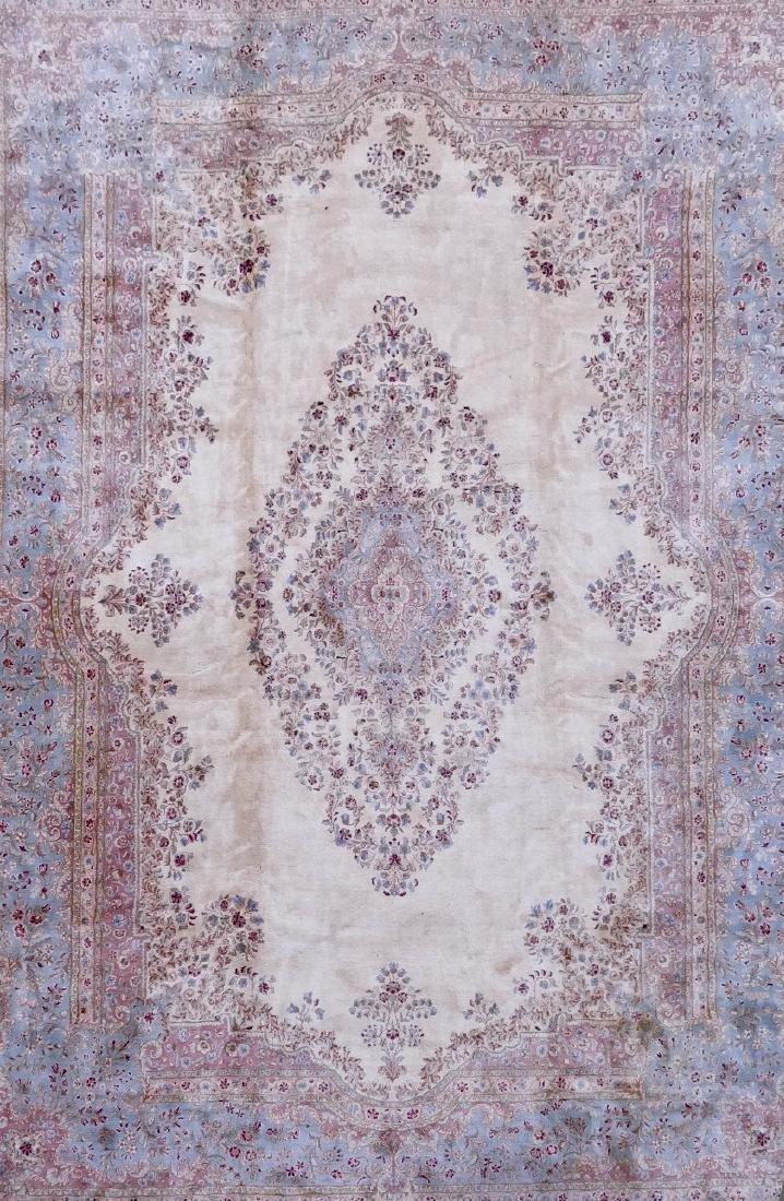 Kirman Palace Size Oriental Rug 15'6''x11'8''. Ivory