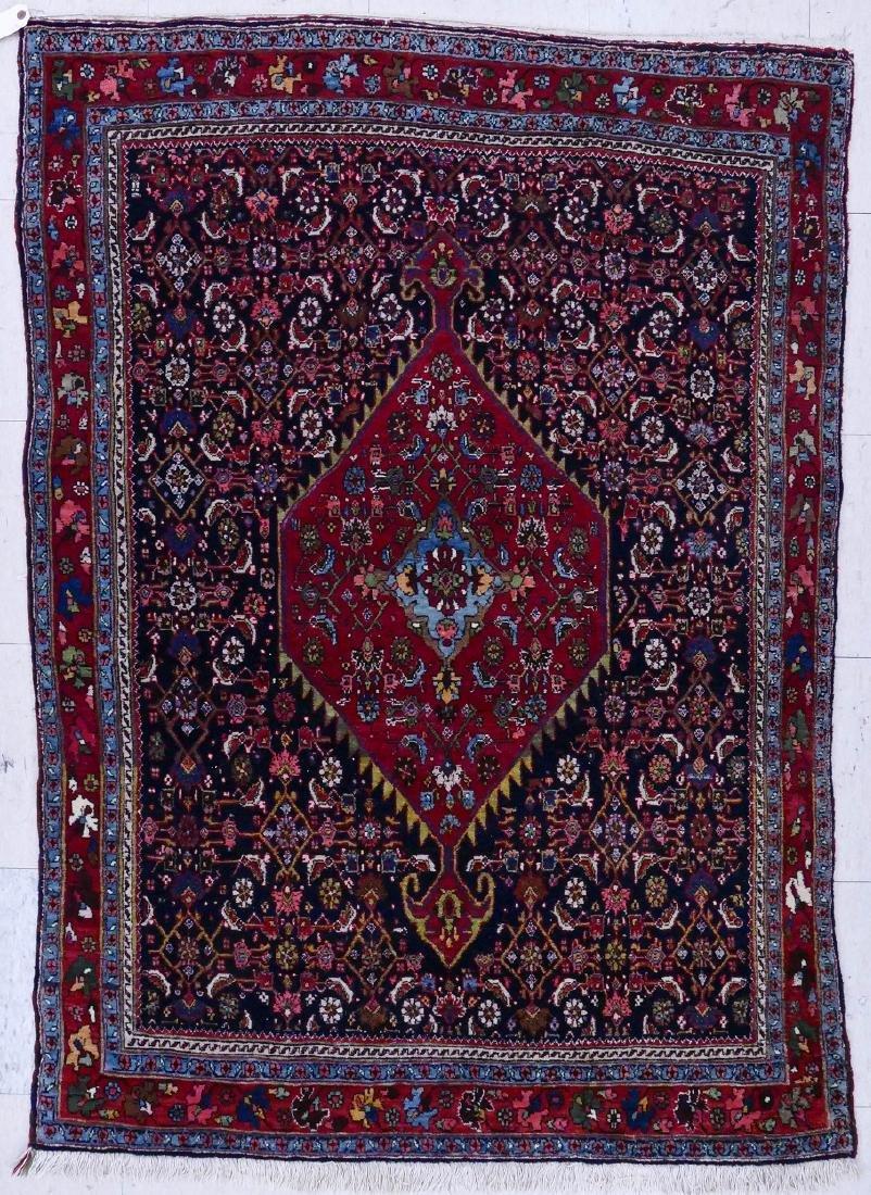 Semi Antique Tabriz Persian Oriental Rug 5'2''x3'6''.