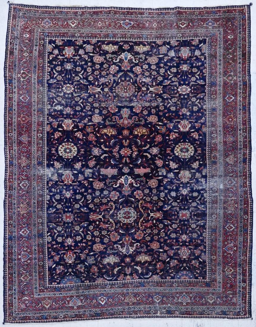 "Semi Antique Persian Oriental Rug 8'10""x11'10"". Dark fi"