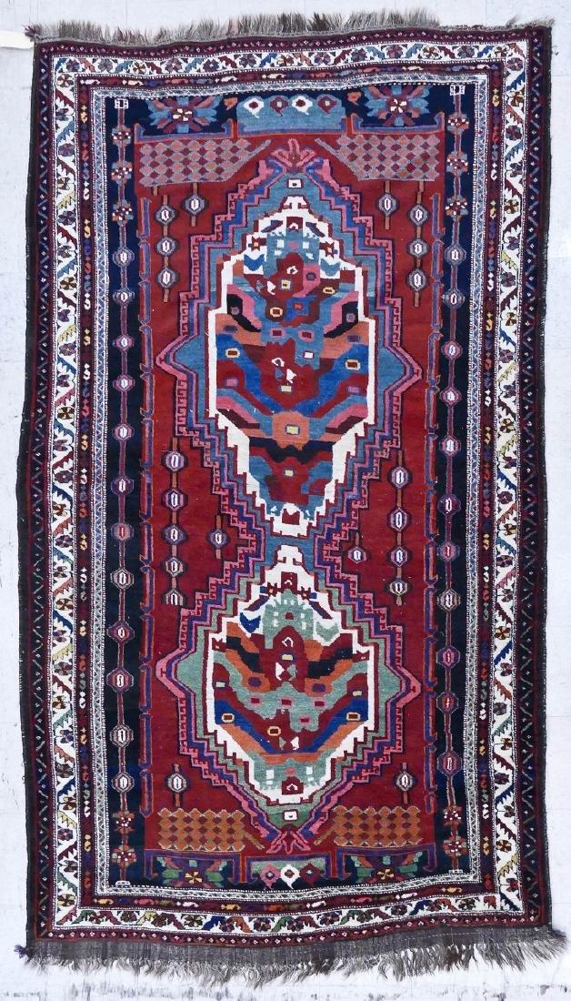 Persian Tribal Oriental Rug 6'9''x10'. Unusual double