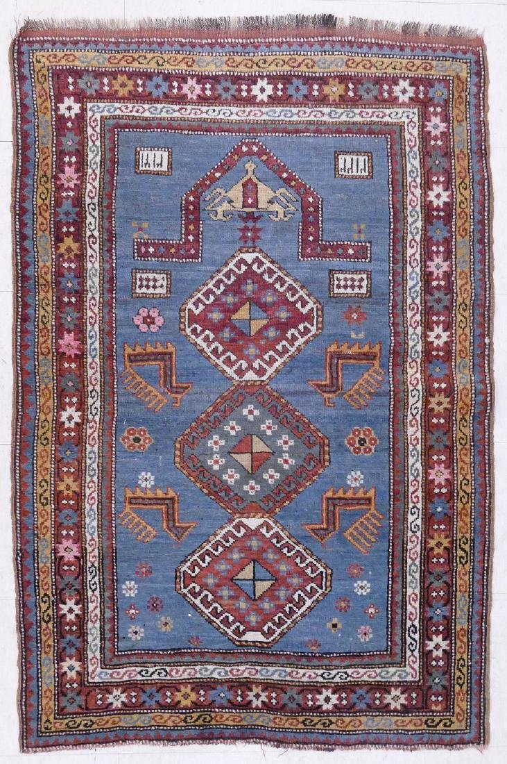 Semi Antique Turkish Prayer Rug 3'x5'10''. Signed in