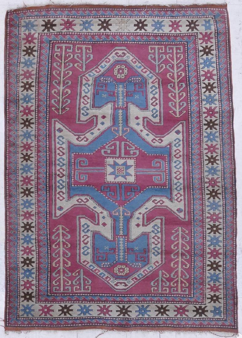 Semi Antique Kazak Oriental Rug 5'8''x6'10''. Matte