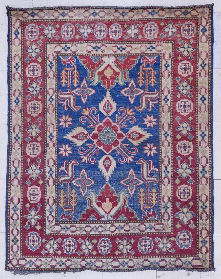 Caucasian Oriental Rug 3'10''x4'10''. Geometric rug