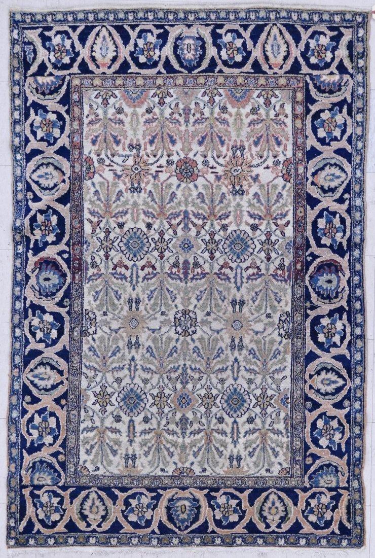 "Antique Persian Oriental Rug 4'3""x6'6"". Floral border w"