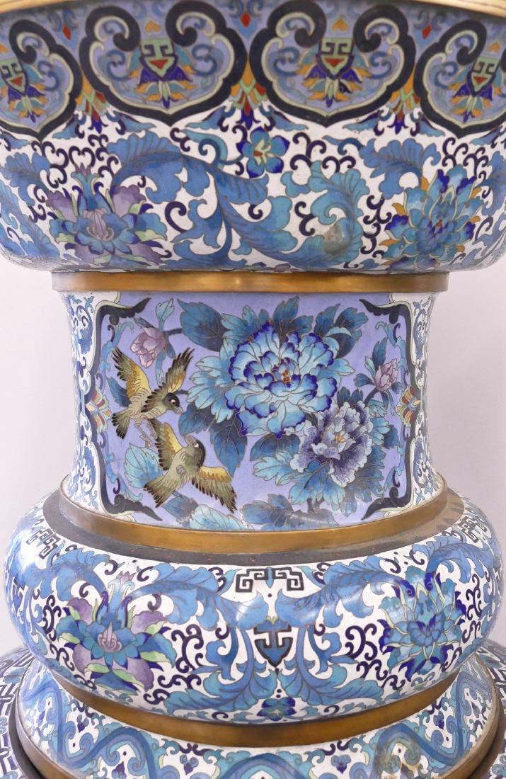Pair of Monumental Chinese Cloisonne Palace Vases on - 5