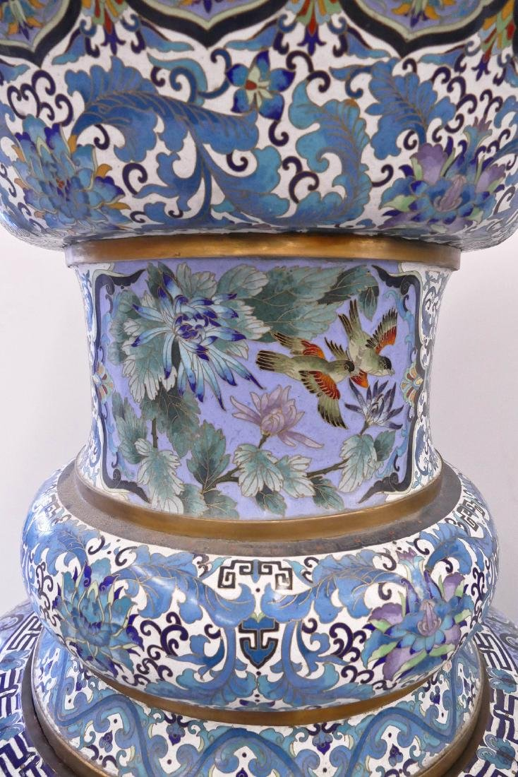 Pair of Monumental Chinese Cloisonne Palace Vases on - 8