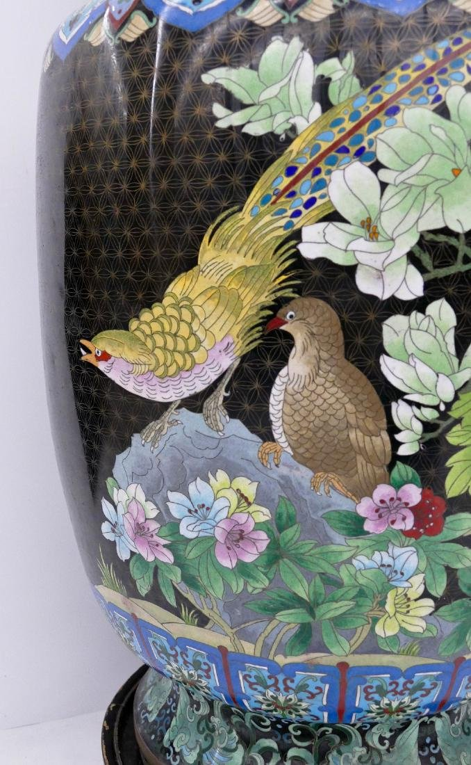 Chinese Cloisonne Palace Vase on Stand 45''x20''. - 3