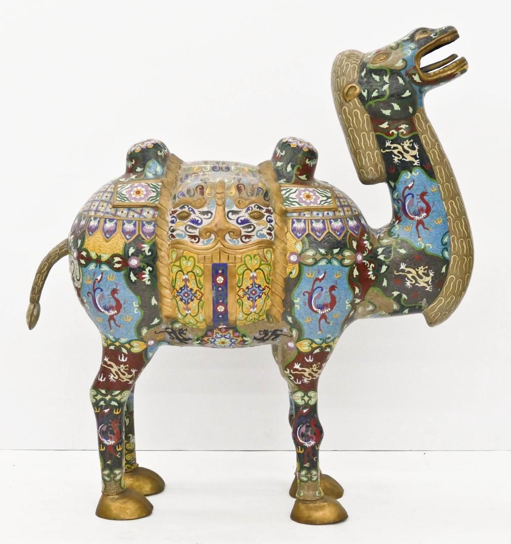 Impressive Chinese Cloisonne Camel Statue 39''x35''. A - 3