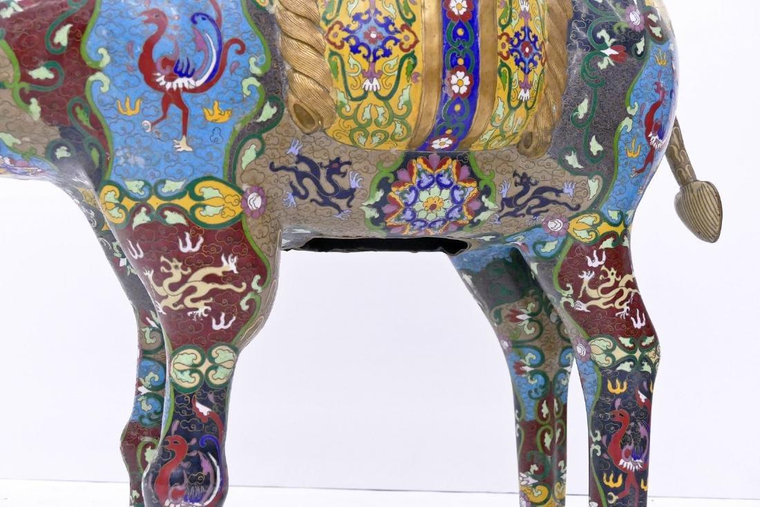Impressive Chinese Cloisonne Camel Statue 39''x35''. A - 5