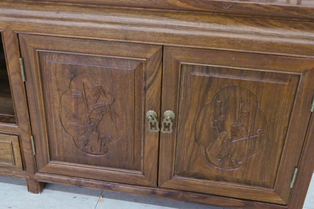 Chinese Rosewood Low Cabinet 20''x78''x21.5''. A long - 2