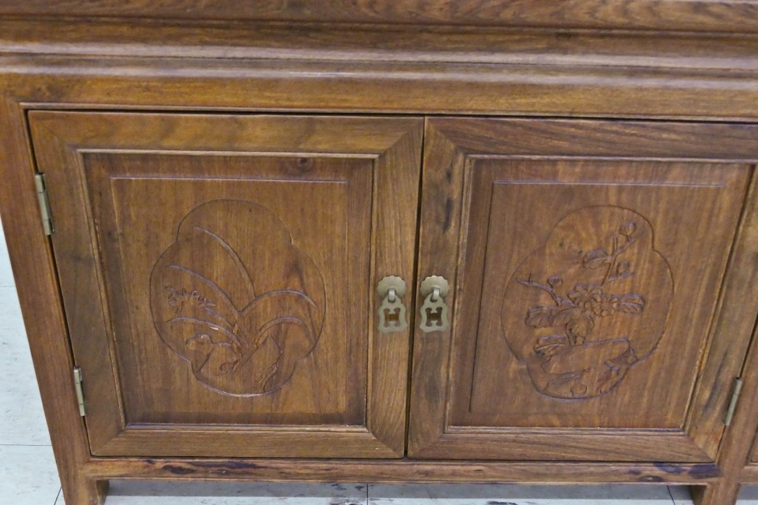 Chinese Rosewood Low Cabinet 20''x78''x21.5''. A long - 3