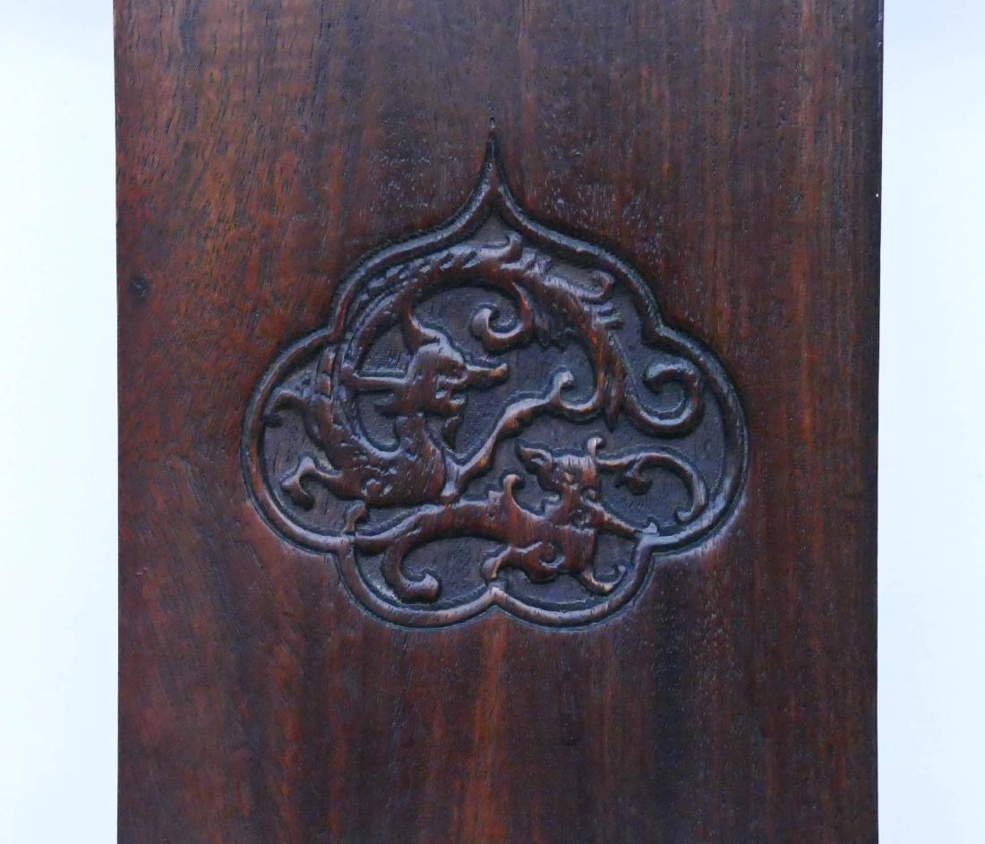 Chinese Huali Yoke Back Chair & Tea Table Set. Pair of - 5