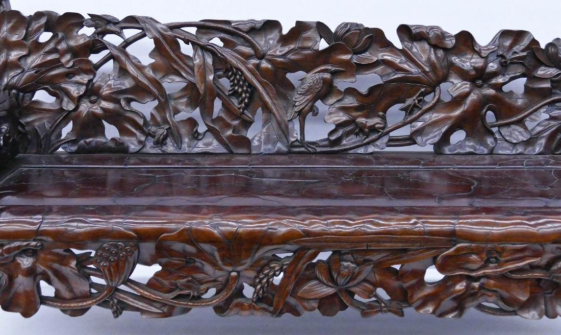 Fine Chinese Rosewood Lotus Bench 30''x64''x24''. - 2