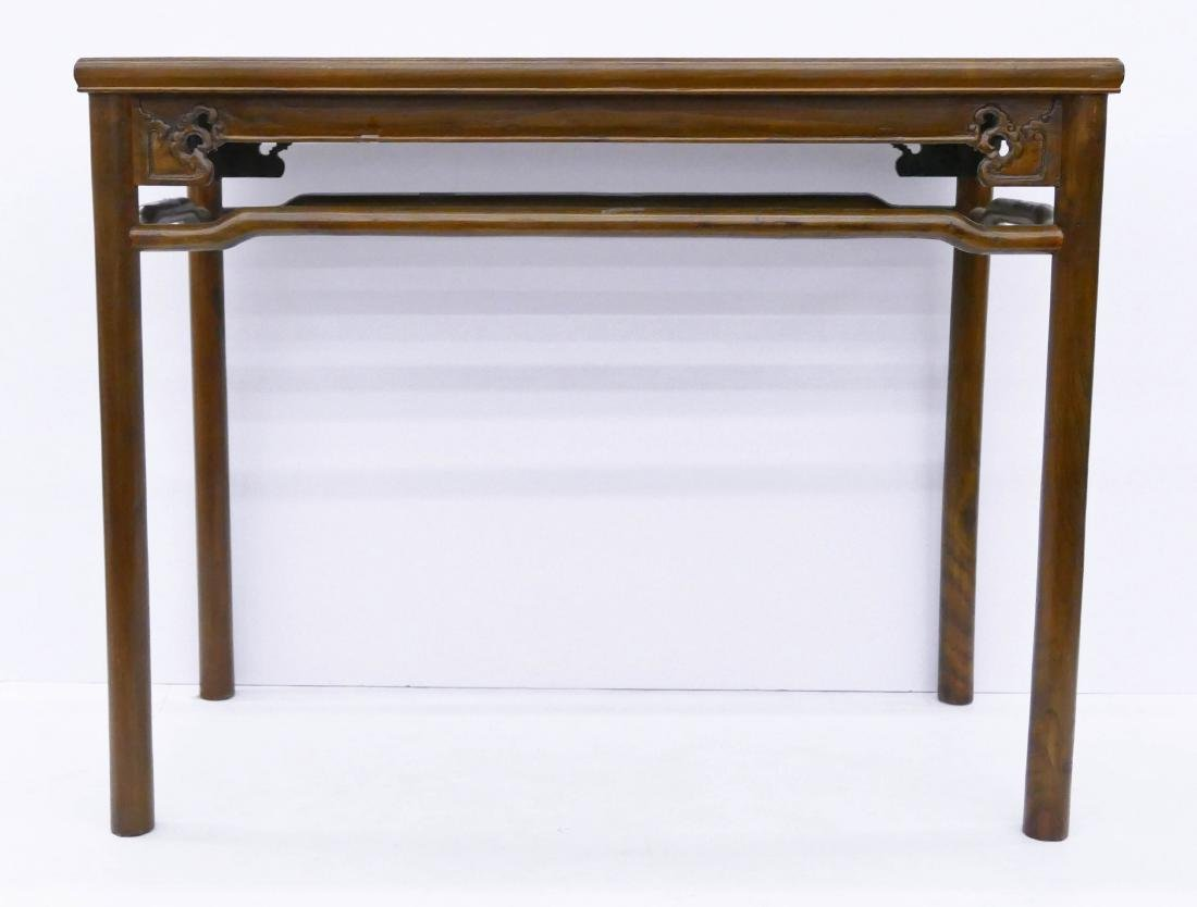 Chinese Elm Carved Altar Table 34''x37''x18.5''. Carved