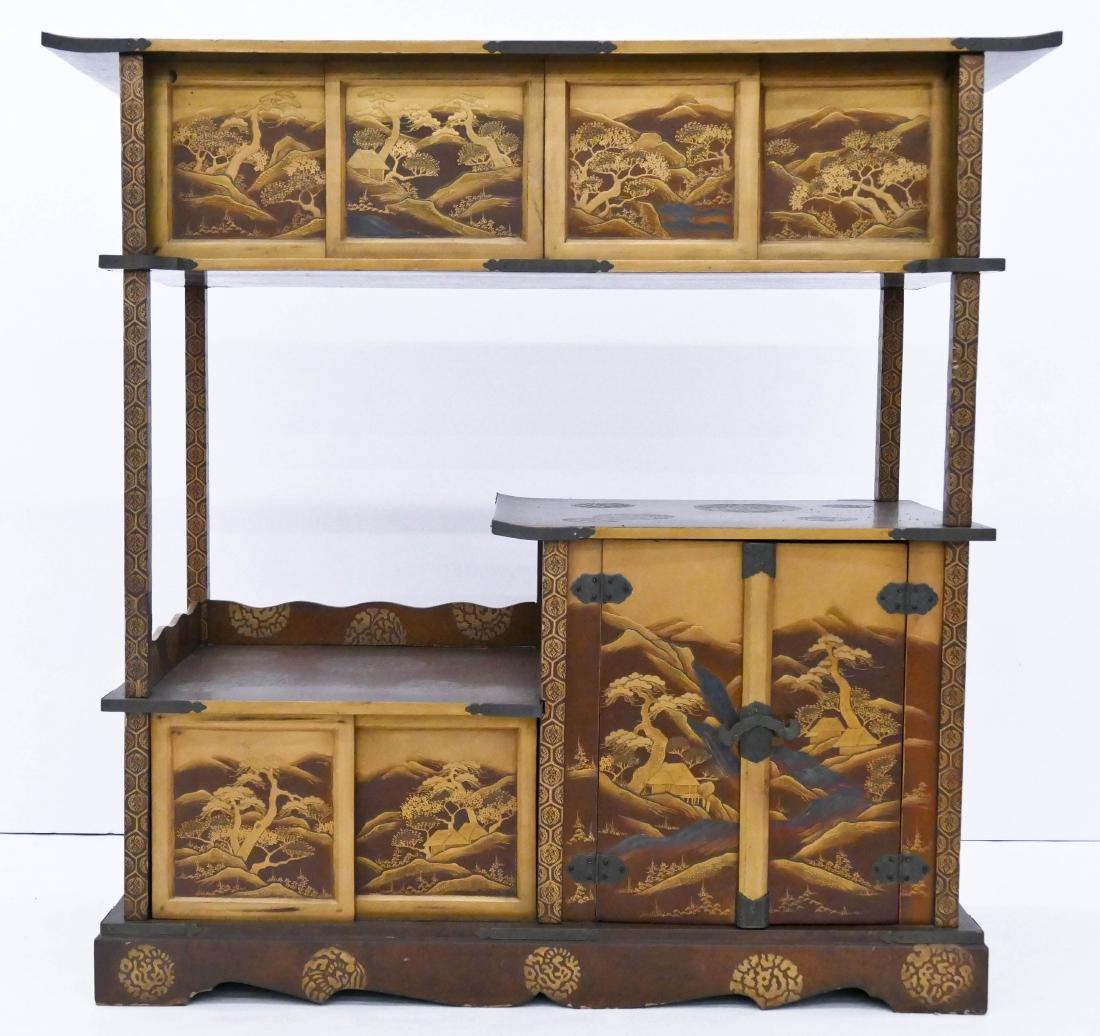 Fine Japanese Lacquered Shodana Cabinet