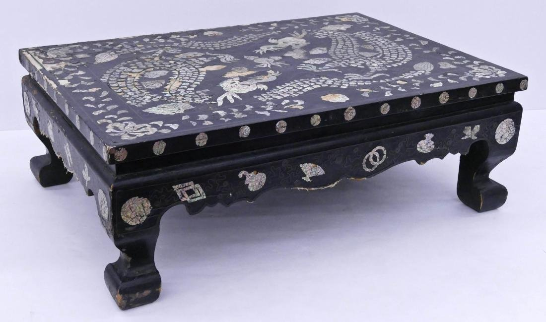 Korean Dragon Mother of Pearl Inlaid Table