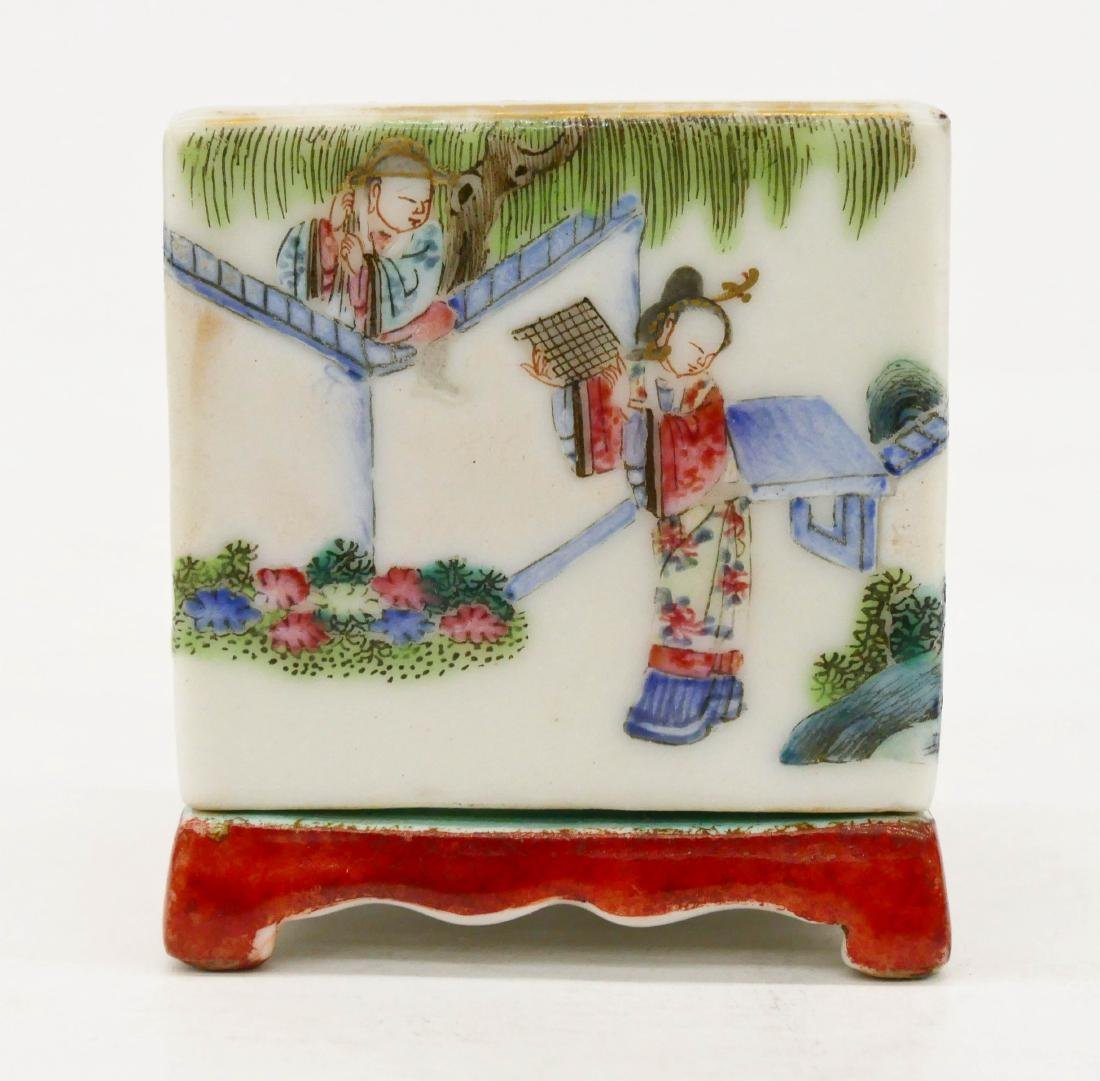 Chinese Famille Rose Porcelain Cricket Box - 2