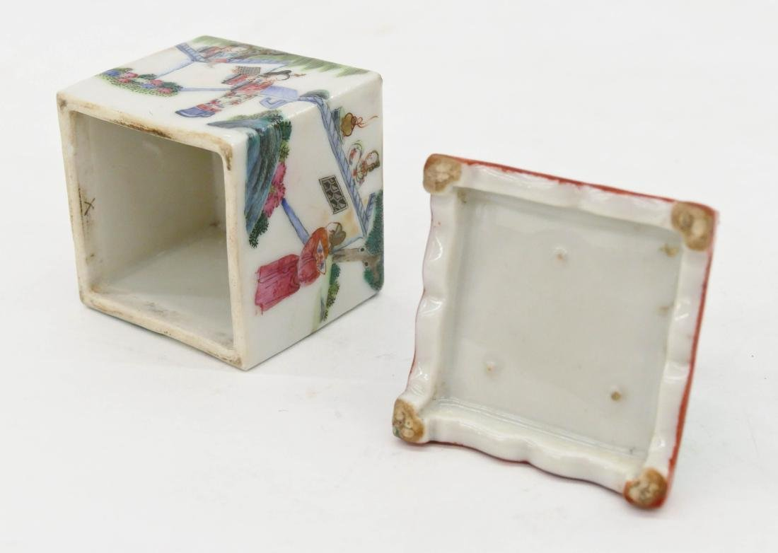 Chinese Famille Rose Porcelain Cricket Box - 4
