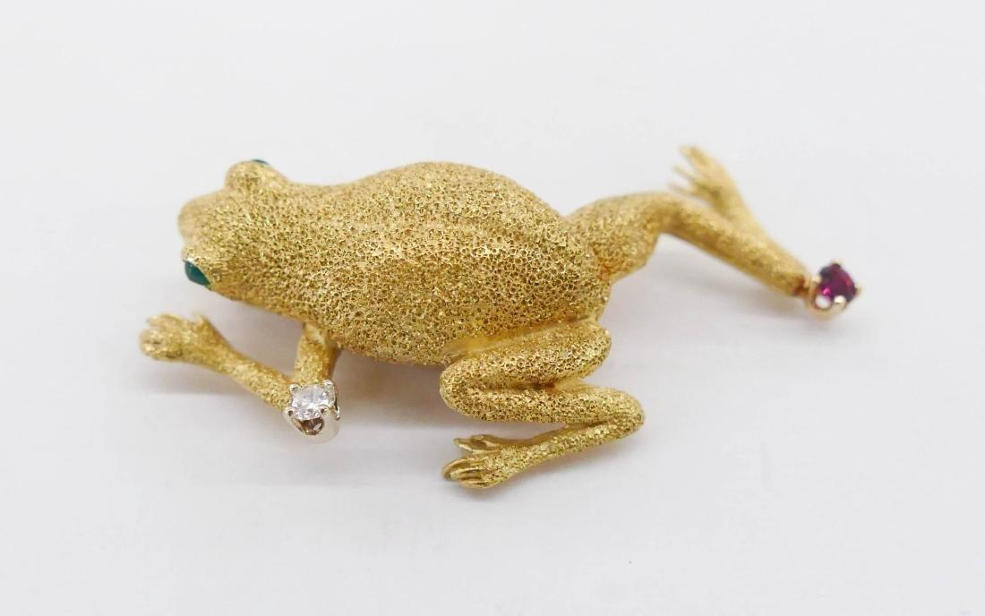 Tiffany 18k Frog Brooch 1.75''x1''. A lady's eighteen - 3