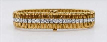 Lady's 18k Platinum Diamond Bracelet 7''x.5''. Includes