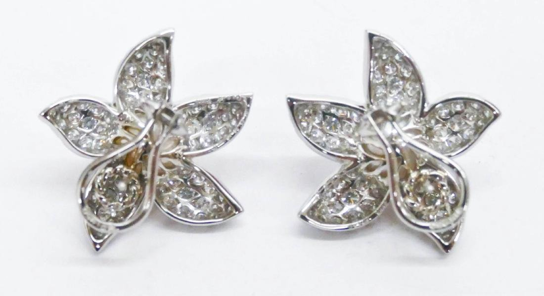 Pair Suna Platinum Diamond Starfish Earrings 1.25''x1'' - 2
