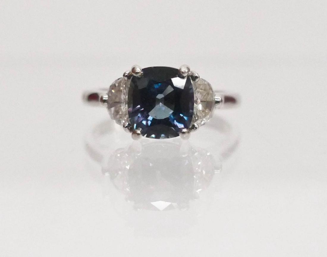 Lady's 2.25ct Alexandrite & Diamond Ring Size 7.5.