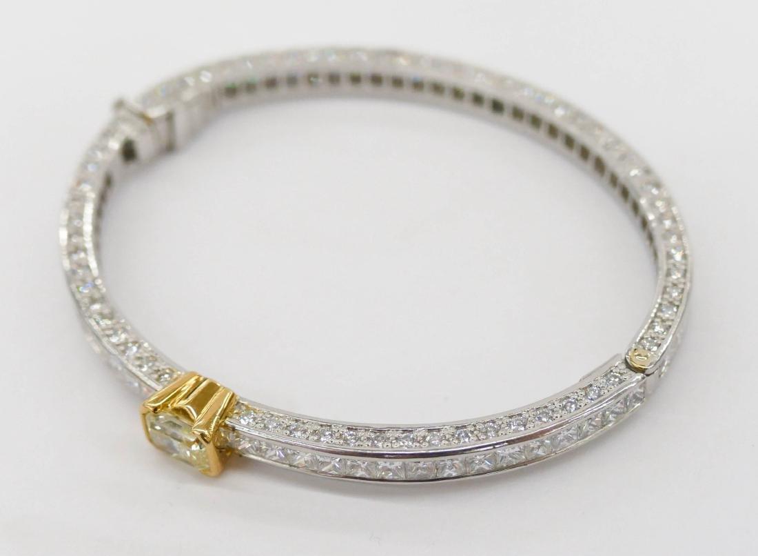 Fine Kwiat Lady's Yellow Diamond Platinum Bracelet - 2