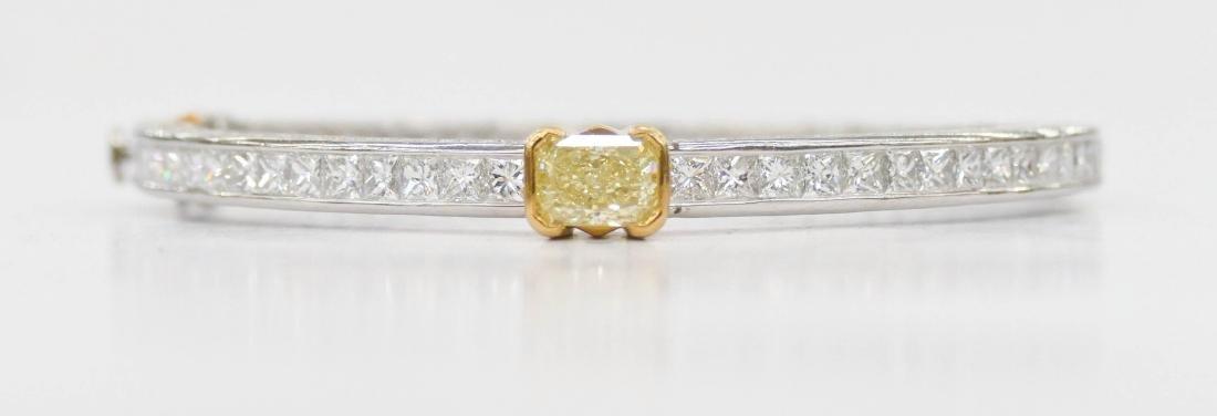 Fine Kwiat Lady's Yellow Diamond Platinum Bracelet - 6