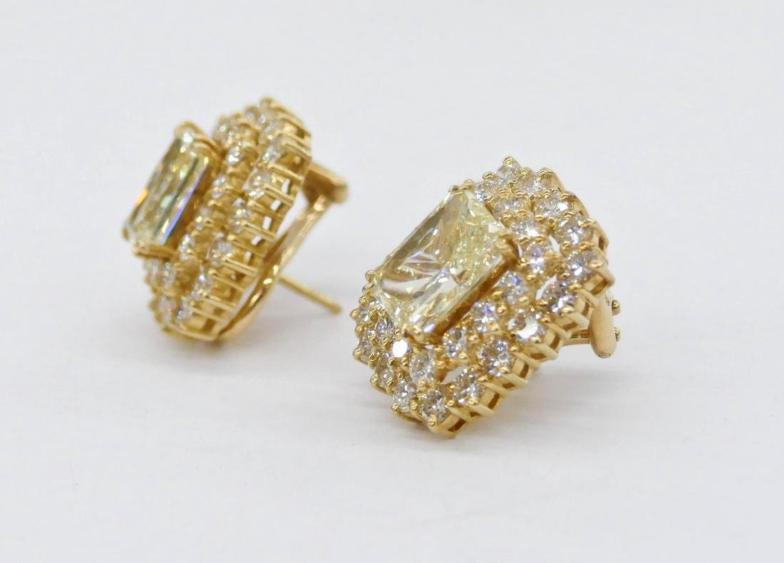 Impressive Pair Lady's 5.72ctw Natural Yellow Diamond - 2