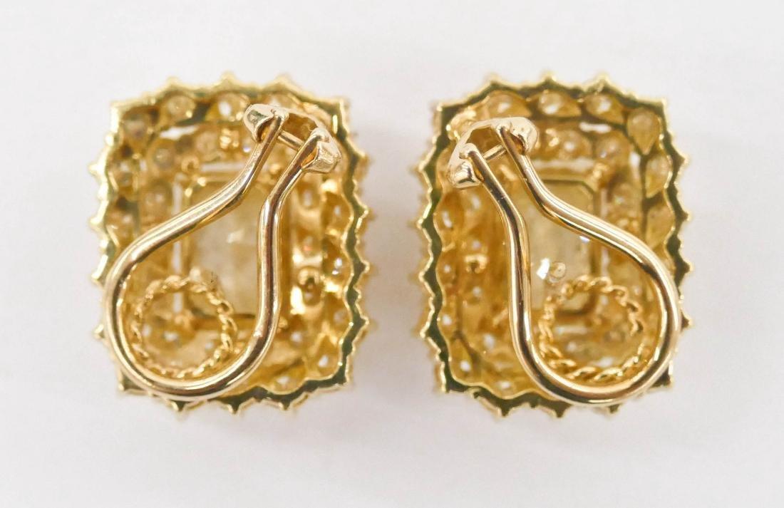 Impressive Pair Lady's 5.72ctw Natural Yellow Diamond - 3