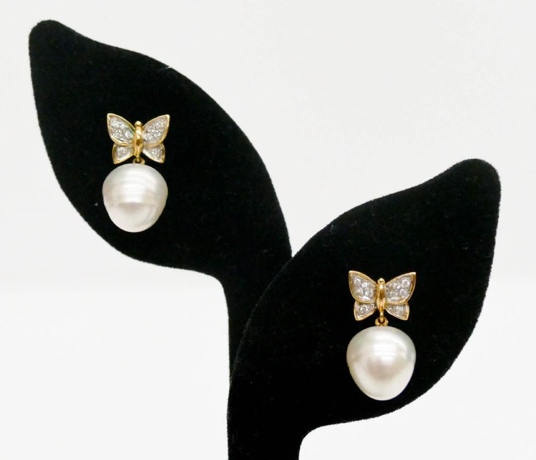 Carrera y Carrera Pair of Lady's 18k Butterfly Earrings