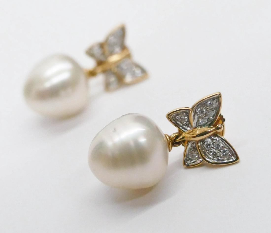 Carrera y Carrera Pair of Lady's 18k Butterfly Earrings - 3