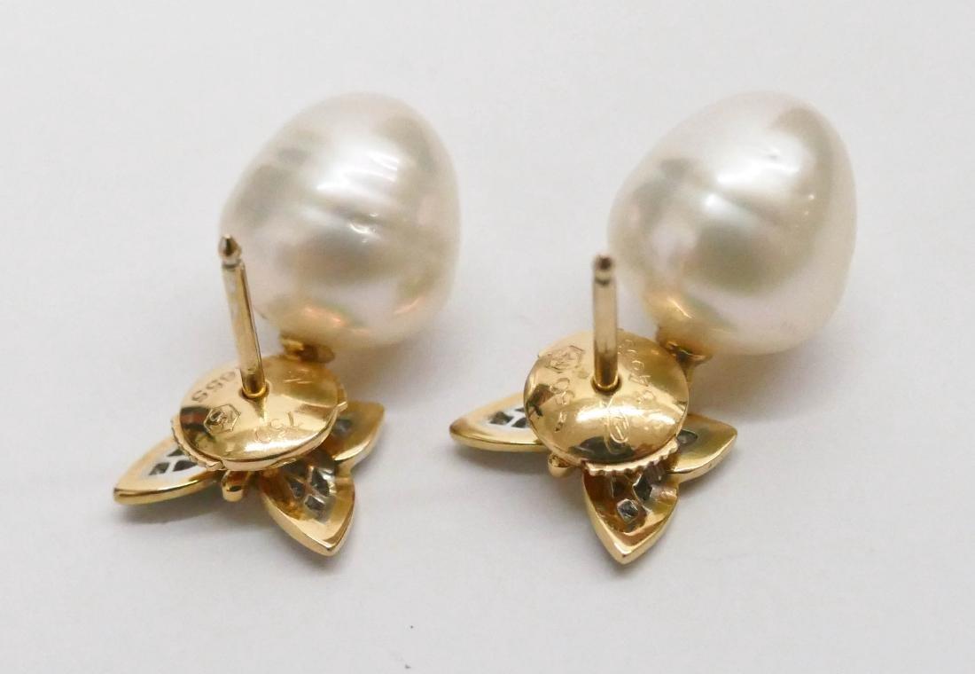 Carrera y Carrera Pair of Lady's 18k Butterfly Earrings - 4