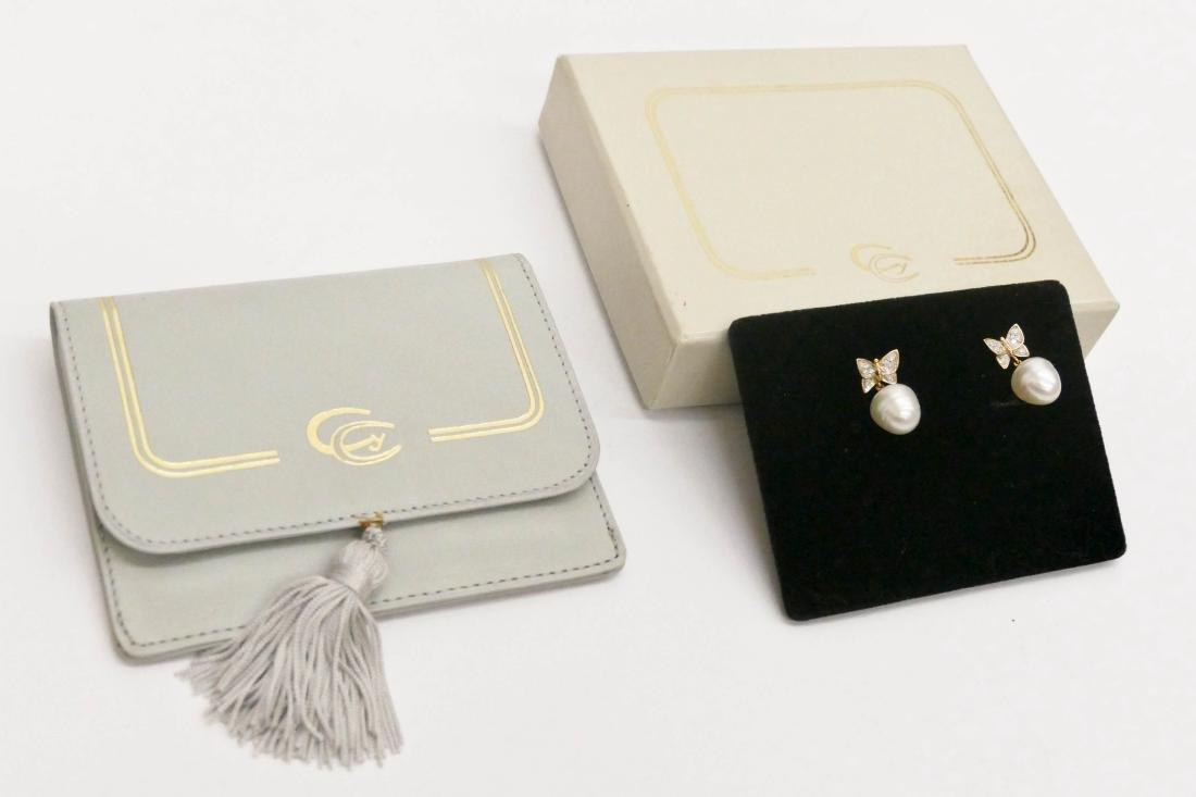 Carrera y Carrera Pair of Lady's 18k Butterfly Earrings - 5